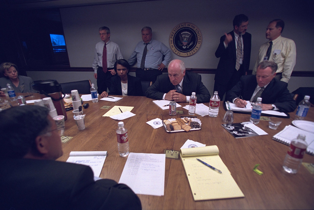 Vice President Cheney with Senior Staff in the President's Emergency Operations Center (PEOC)