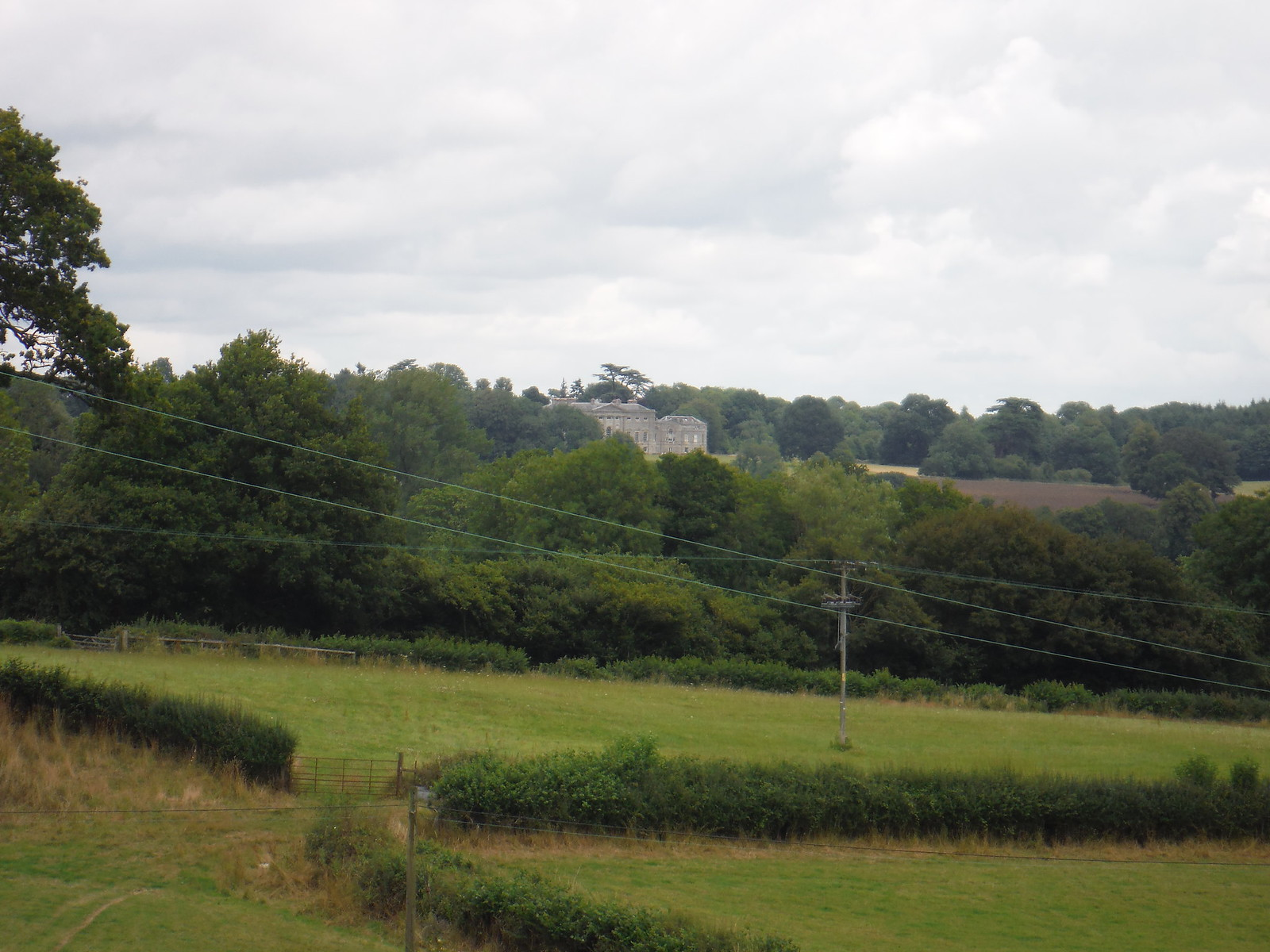 New Wardour Castle from near Pigtrough Lane SWC Walk 252 Tisbury Circular via Donhead St. Andrew