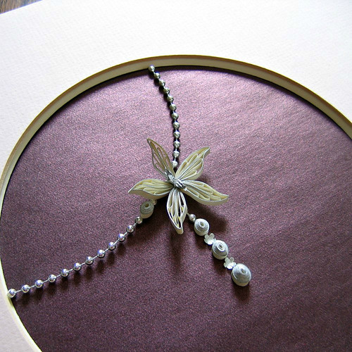 Quilled Orchid Necklace