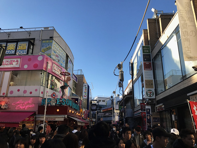 Walking Down Takeshita Street