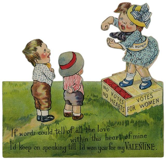 Votes for Women Valentine—No Votes, No Hearts