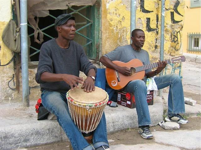 Street musicians in Crete