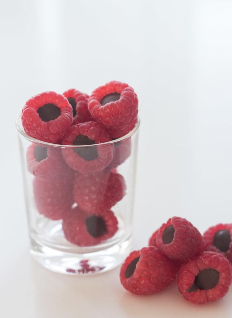Hindbær med chokoladefyld (12)