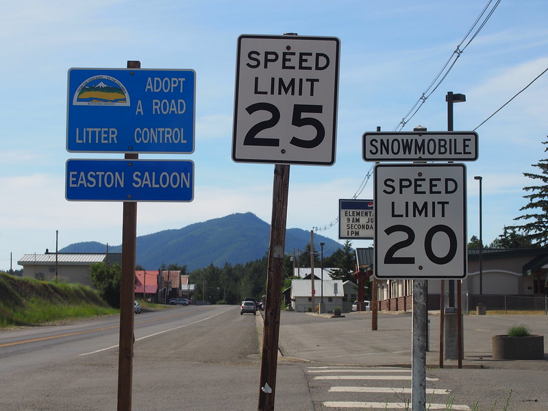 Easton: They have a snowmobile speed limit!