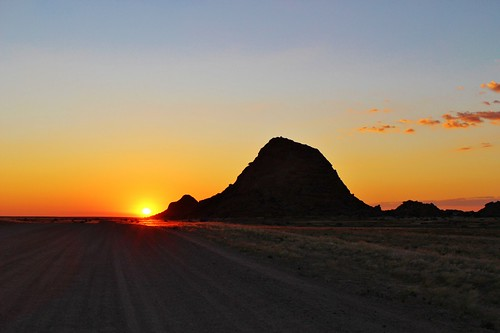 Sunset as we pulled into Spitzkoppe