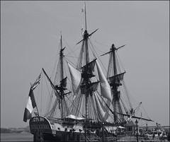 schooner(0.0), windjammer(0.0), carrack(0.0), manila galleon(0.0), brig(0.0), ship of the line(1.0), sail(1.0), sailboat(1.0), sailing ship(1.0), vehicle(1.0), east indiaman(1.0), ship(1.0), full-rigged ship(1.0), fluyt(1.0), mast(1.0), monochrome photography(1.0), frigate(1.0), ghost ship(1.0), barquentine(1.0), sloop-of-war(1.0), caravel(1.0), tall ship(1.0), watercraft(1.0), monochrome(1.0), black-and-white(1.0), boat(1.0), galleon(1.0), barque(1.0), brigantine(1.0),