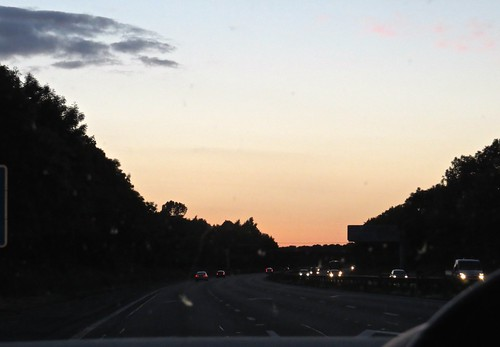 1761 Sunset from the M6 motorway