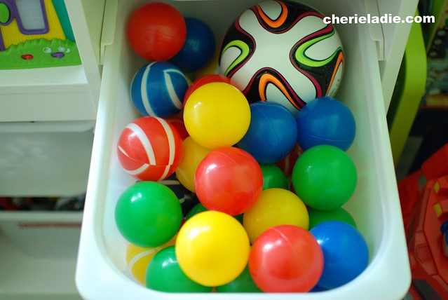 Balls of different shape and sizes..