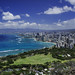 Waikiki From The Top Of Diamond Head by Bill Gracey