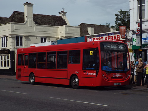 Stagecoach East London 36262, LX11AVR in Romford on route 499