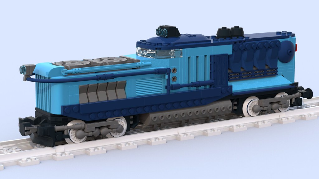 Retrofuturistic locomotive