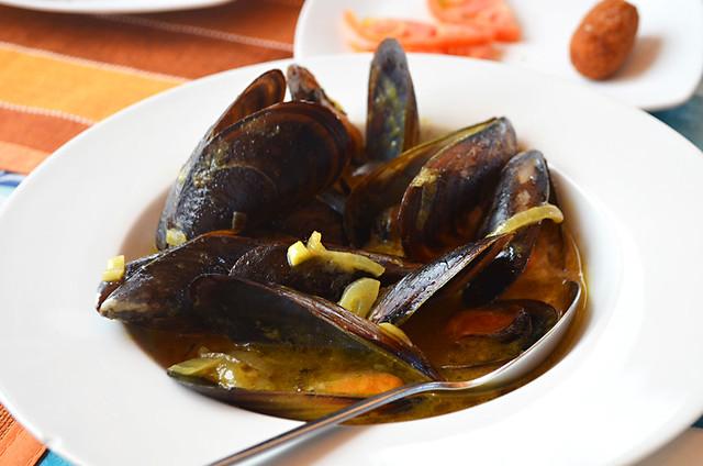 Thai mussels, Restaurant Pantalan, Las Galletas, Tenerife