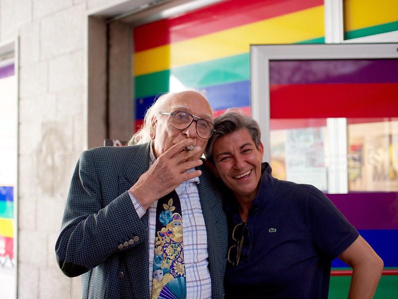 Marco Pannella e Clara Comelli