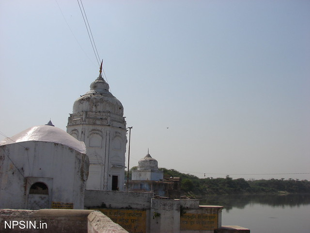 A series of temples on the bank of river Yamuna