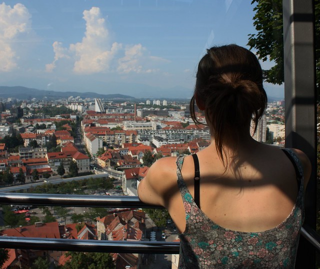 Looking out to Ljubljana Slovenia