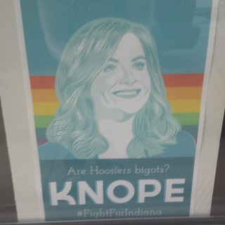 Knope sign Indianapolis