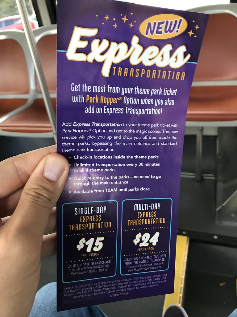 Express Transportation Bus Service at Walt Disney World
