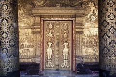 Wat Mai Monastery/temple entry door, Luang Prabang, Laos