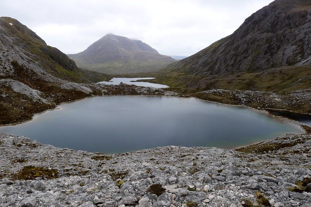 Beinn Damh across Loch a' Mhadaidh Ruadh