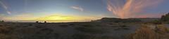 dry lagoon sunset panorama