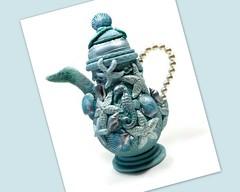 polymer clay Ocean Life Teapot