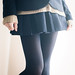 School miniskirt with Black Tights by sutible