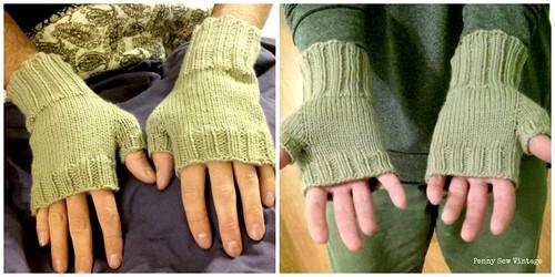 fingerless gloves collage
