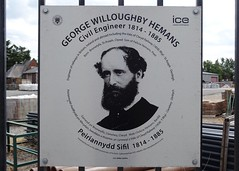 Photo of George Willoughby Hemans brushed metal plaque