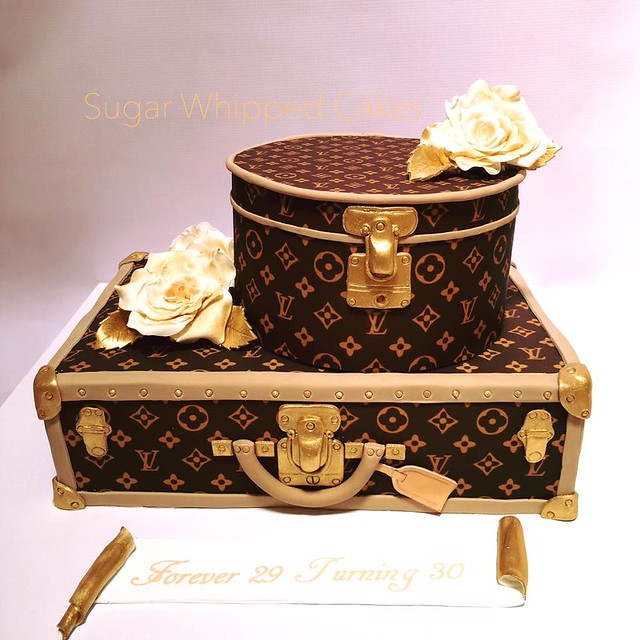Louis Vuitton Suitcase Cake by Sugar Whipped Cakes