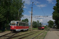 Irkutsk tram 71-605 loop Rabocheye