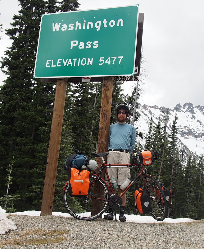 Washington Pass Summit: This one was a bit tougher, as it involved a mile of downhill from Rainy Pass, then three miles of constant, steep uphill.