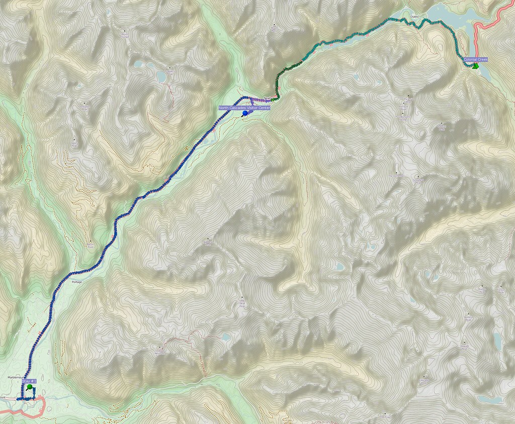 Marblemount to Colonial Creek Campground