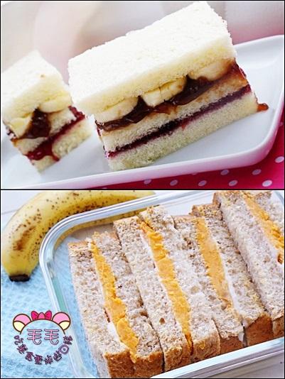 果醬三明治+地瓜三明治