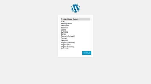 WordPress 4.2 のインストール時言語選択
