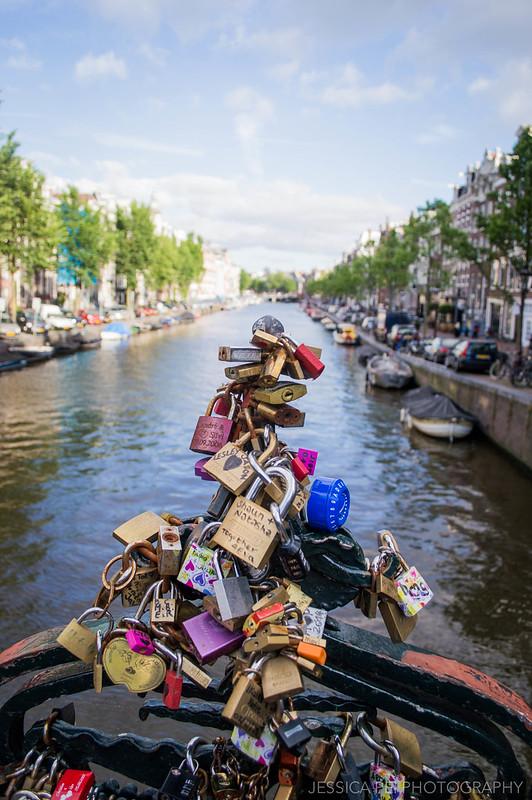 Love Locks Canal Amsterdam