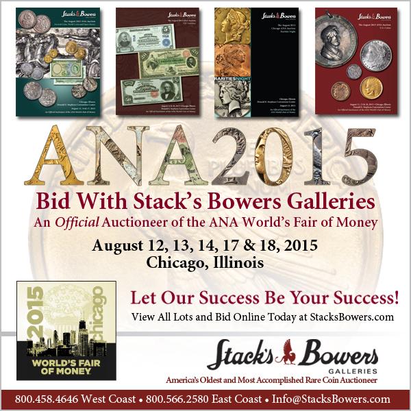 Stacks-Bowers E-Sylum ad 2015-07-26