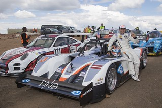 Rhys Millen with eO PP03 by Drive eO at Pikes Peak International Hill Climb 2015