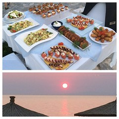 Our #final #dinner and #sunset at @domaineportocarras  @PortoCarrasUSA #Greece what a phenomenal #trip this has been. I was always proud of being the #domaineportocarras #Ambassador but now there are no words to describe my pride!