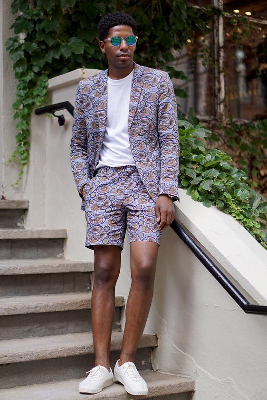 Printed Short Suit - Mens