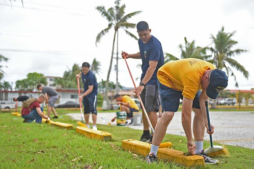 Ashland Sailors and Marines Volunteer at Guam Elementary School