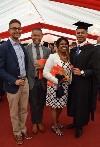 Luke Barker with his brothers and mother