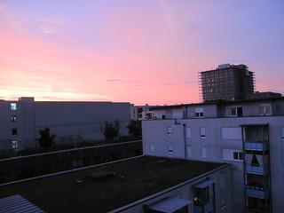 Sonnenuntergang bei Freiburg