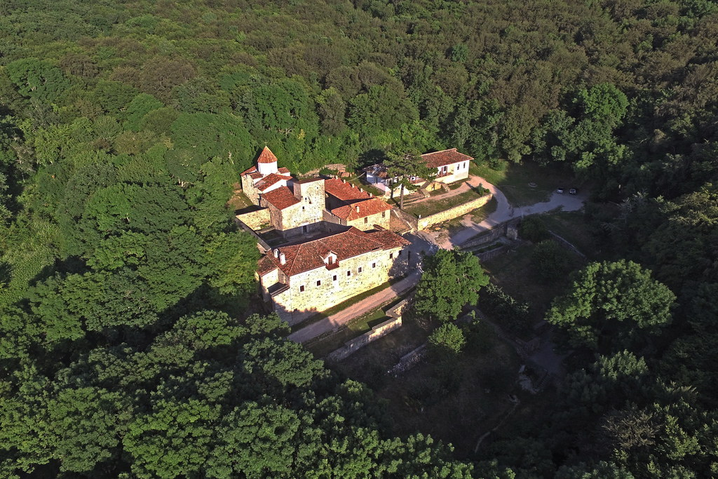 Staryi Krym, S. Khach monastery, aerial view, 2016.06.24 (03)