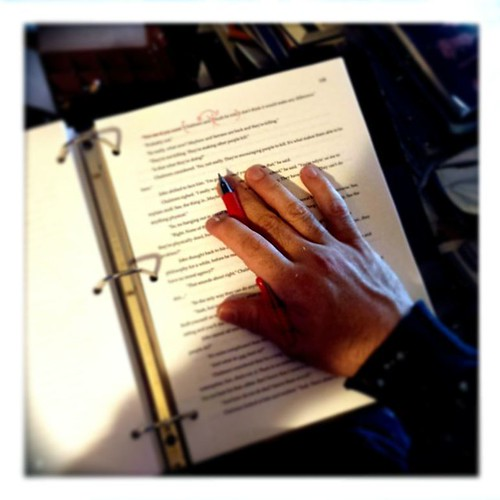 Red pen mornings #editing #amwriting