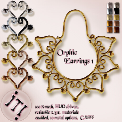 !IT! - Orphic Earrings 1 Image