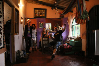 Hanging out at teh farmhouse with some random locals.  Villa De Leyva, Colombia.
