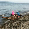 A valiant fight to save their fort as the tide comes in. #bainbridgeisland #feybainbridgepark