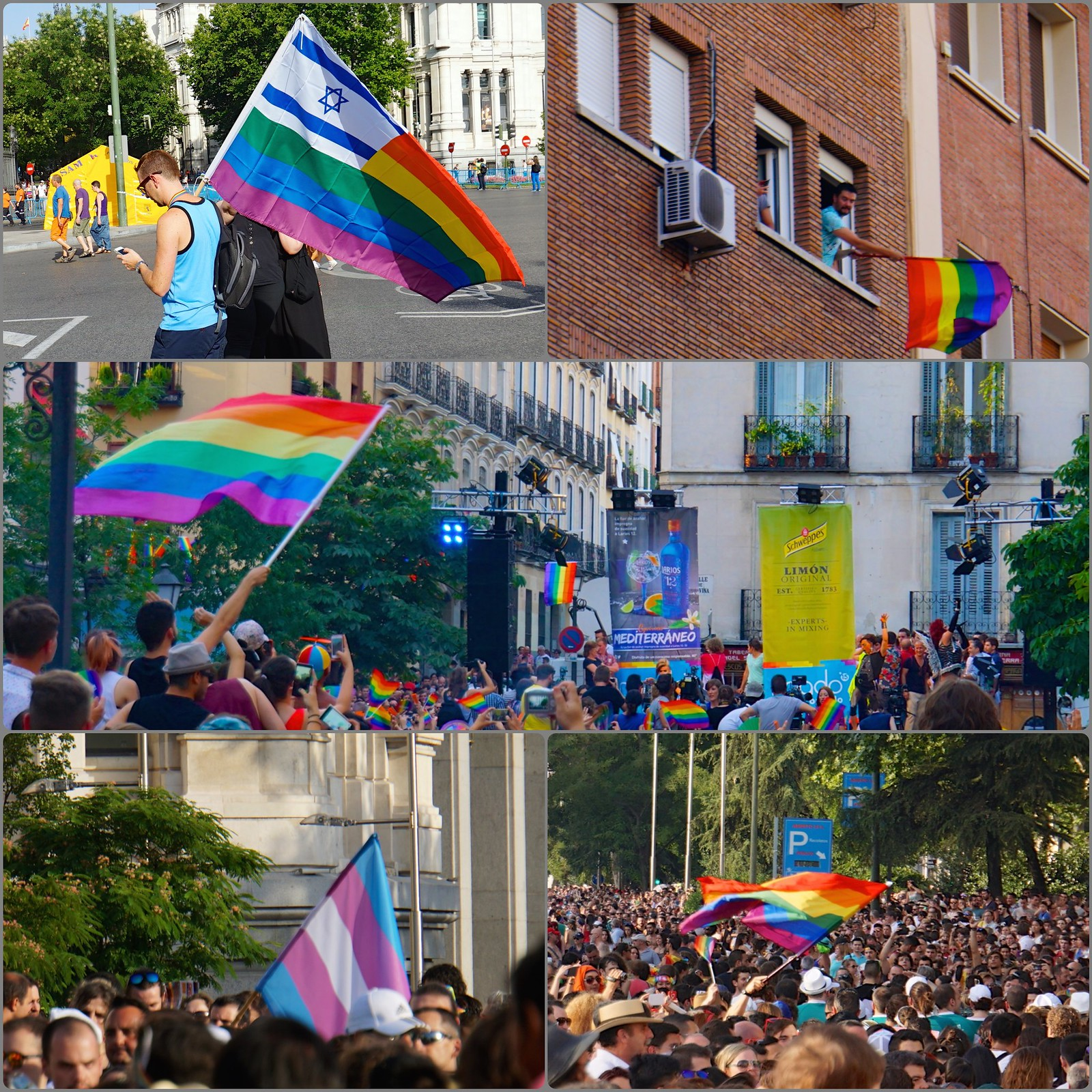 Madrid Pride Orgullo 2015 Power of Flags Collage 58789