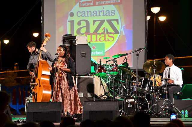 Zara McFarlane and band, Canarias Jazz and Mas Festival, Puerto de la Cruz, Tenerife