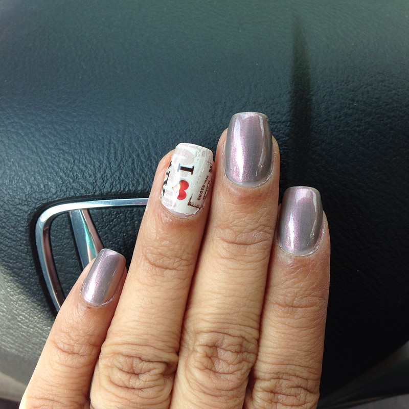 NailaDay: Lady Queen Nail Wraps and Sally Hansen Reflection Frost